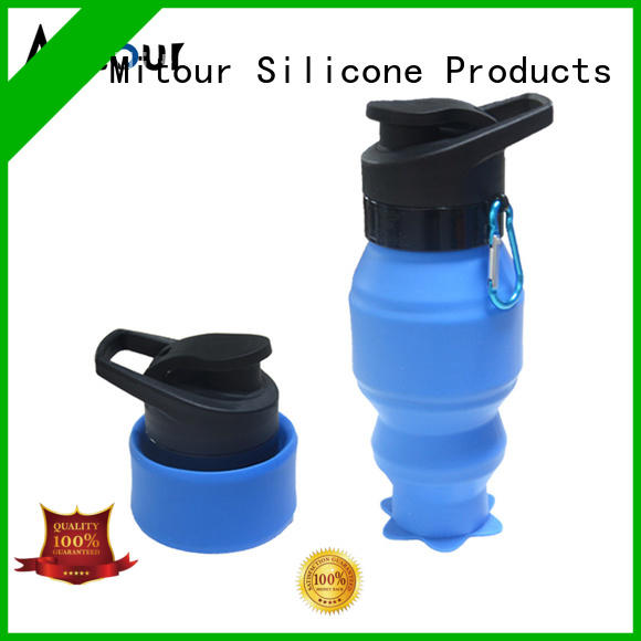 silicone foldable bottle for water storage Mitour Silicone Products
