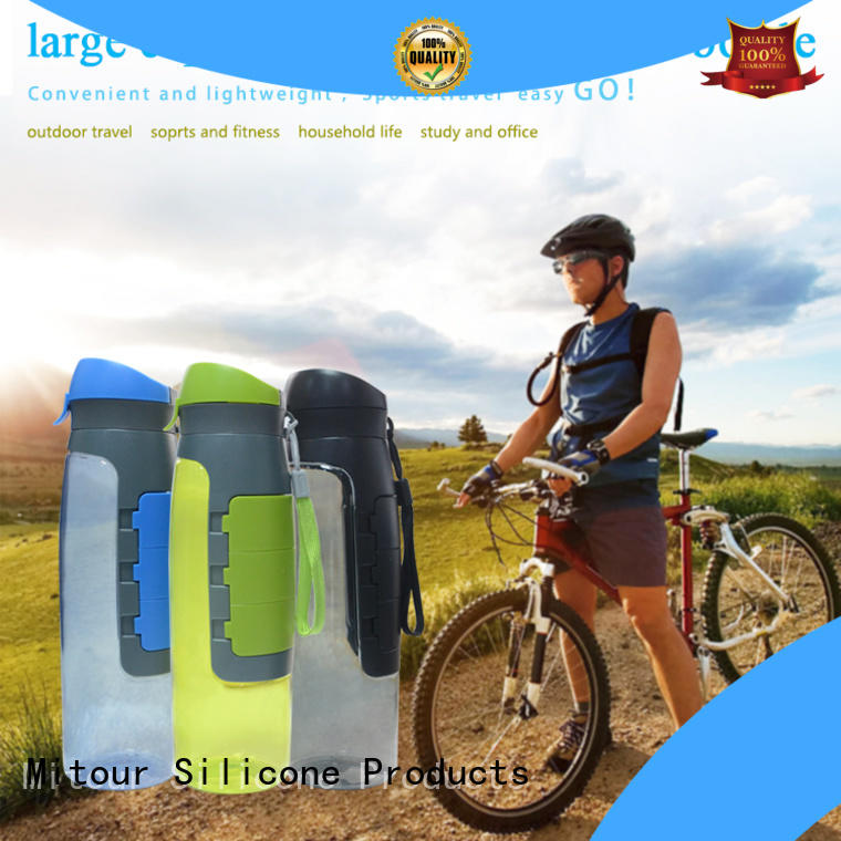 Mitour Silicone Products folding silicone water bottle safety inquire now for children