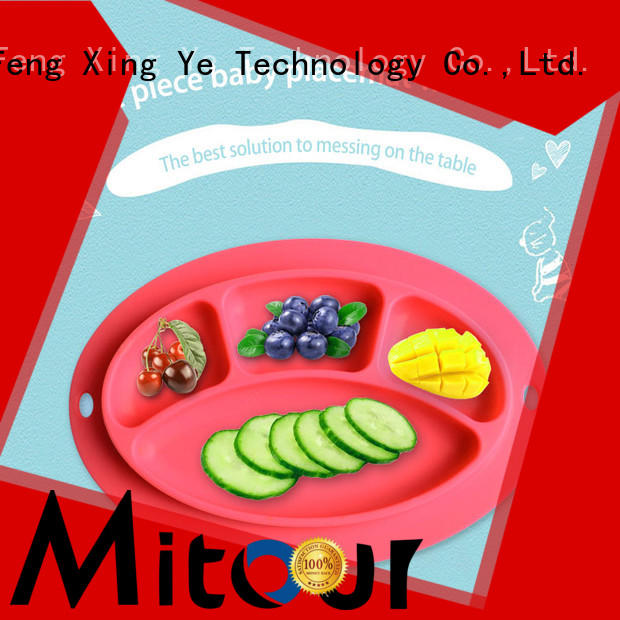 Mitour Silicone Products universal baby plate silicone placemat for children