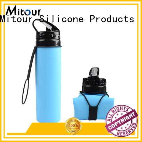 Mitour Silicone Products football foldable silicone water bottle bulk production for water storage