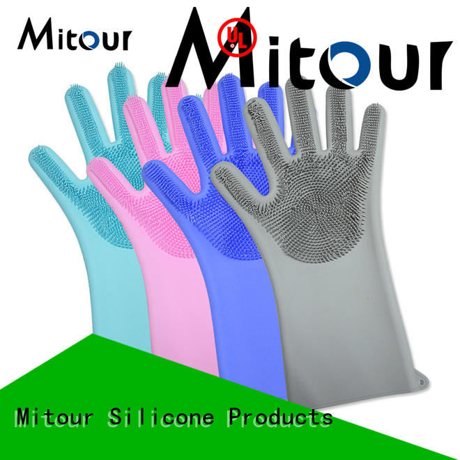 Mitour Silicone Products gloves black cooking gloves ODM for indoor cleaning