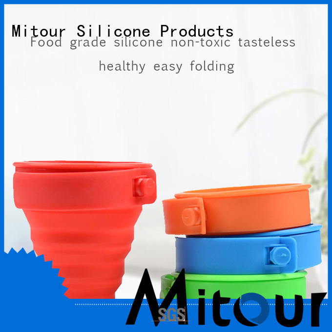 Mitour Silicone Products folding silicone roll bottle for children