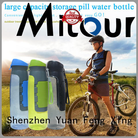 Mitour Silicone Products straight foldable silicone water bottle supplier for water storage