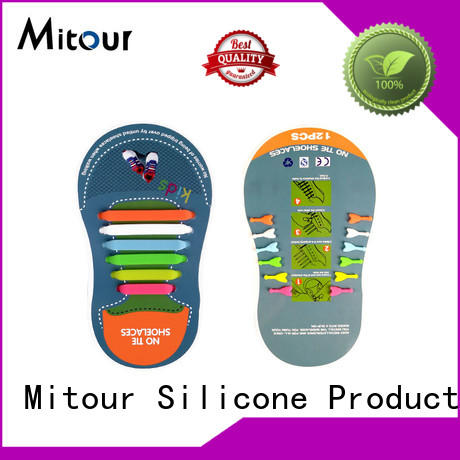 Mitour Silicone Products no tie silicone no tie laces shoelaces for child