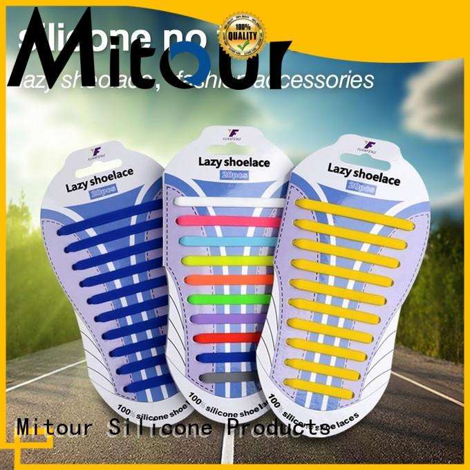 Mitour Silicone Products cheap no tie elastic silicone shoelace for child