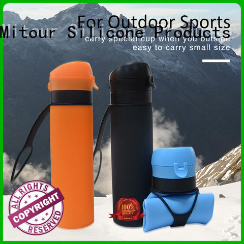 collapsible water bottle silicone football for water storage Mitour Silicone Products