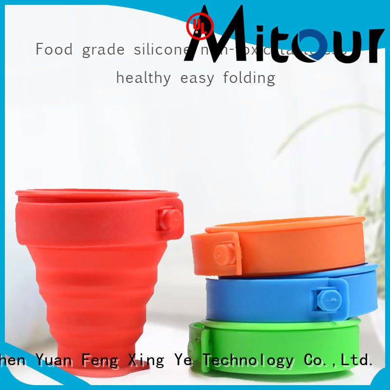 Mitour Silicone Products portable foldable silicone bottle for children
