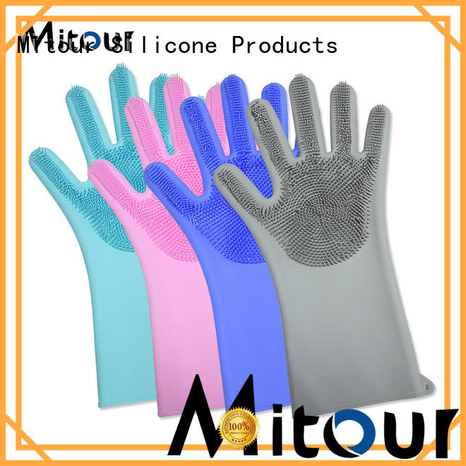 Mitour Silicone Products gloves scrubbing gloves ODM for indoor cleaning