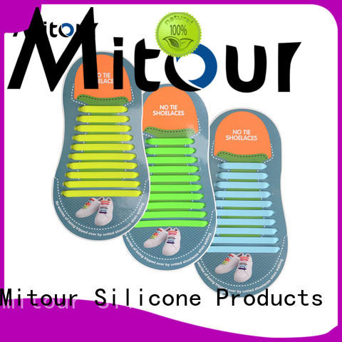 high-quality no tie shoelaces silicone shoelaces for boots Mitour Silicone Products