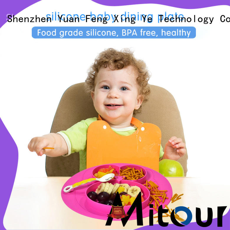 Mitour Silicone Products placemat silicone placemat plate lunch for children