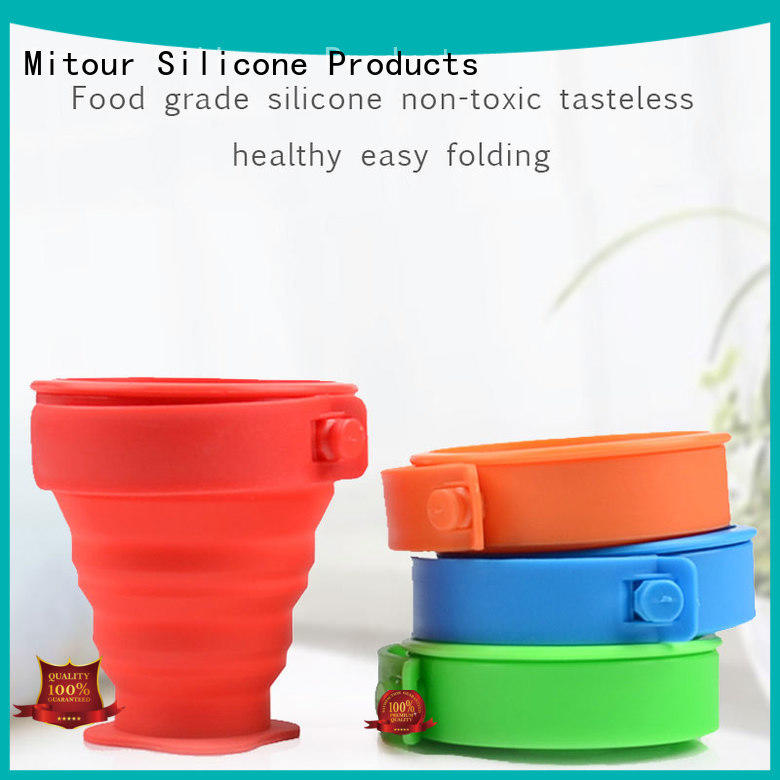 outdoor silicone folding bottle for water storage Mitour Silicone Products