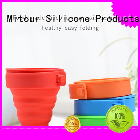 purse silicone collapsible bottle bulk production for water storage Mitour Silicone Products