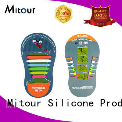 no tie elastic silicone shoelace no tie for child Mitour Silicone Products