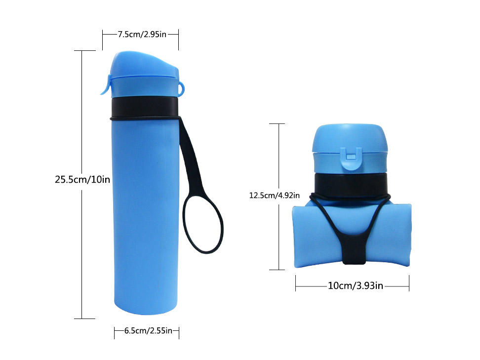 Mitour Silicone Products sports silicone collapsible bottle supplier for children-2