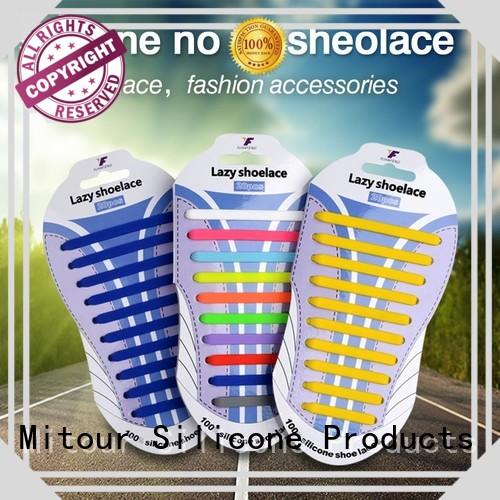 no tie elastic silicone shoelace shoelaces for boots Mitour Silicone Products