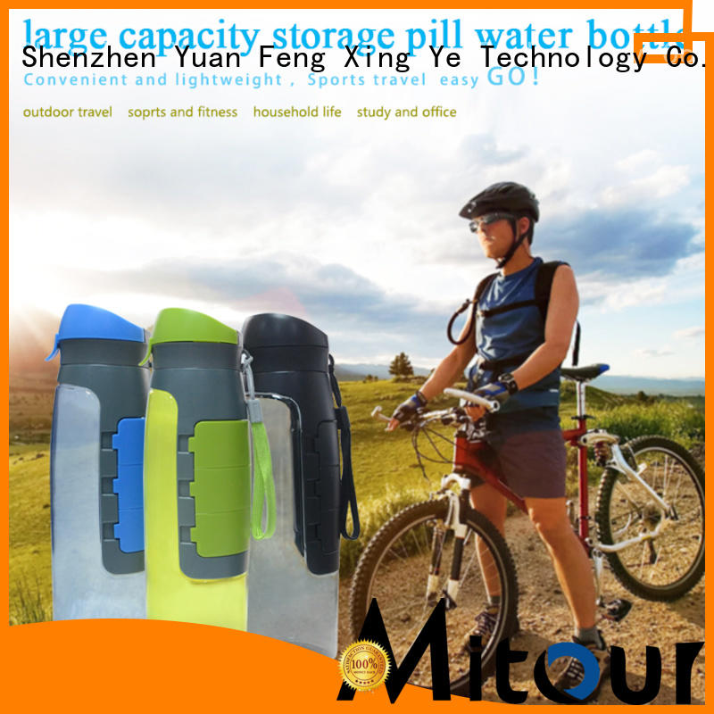 straight folding water bottle silicone sleeve Mitour Silicone Products Brand