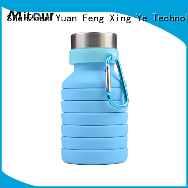 Mitour Silicone Products foldable ultralight water bottle bulk production for water storage