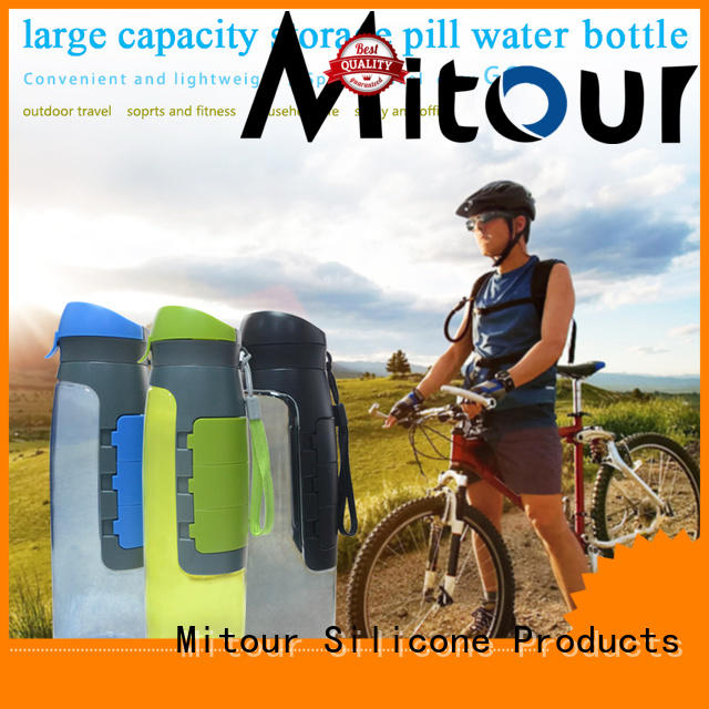 Mitour Silicone Products foldable silicone bottle sleeve for wholesale for water storage