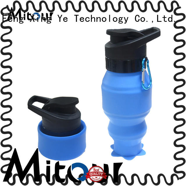 Mitour Silicone Products portable 750ml glass water bottle for wholesale for water storage