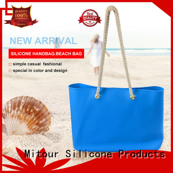 custom silicone beach tote OEM for trip Mitour Silicone Products