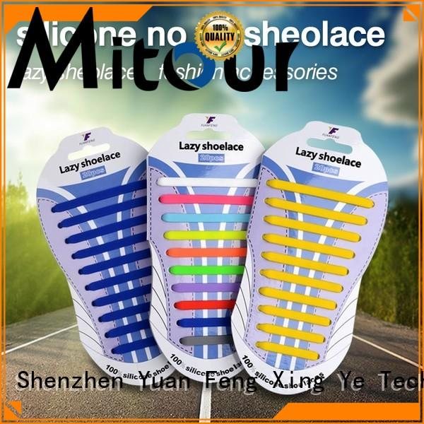 cheap no tie shoelaces silicone for child Mitour Silicone Products