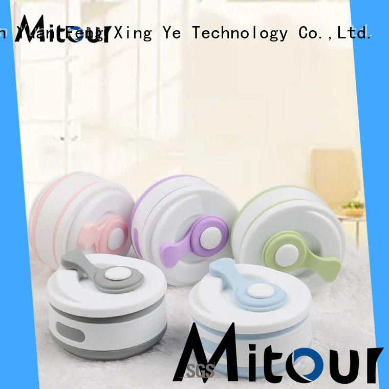Mitour Silicone Products portable kids silicone water bottle supplier for children