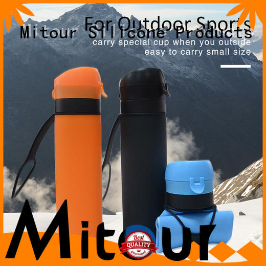 Mitour Silicone Products foldable silicone milk bottle bulk production for children