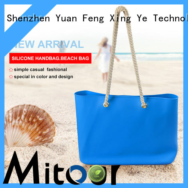 Mitour Silicone Products silicone silicon beach bags shoulder for girls