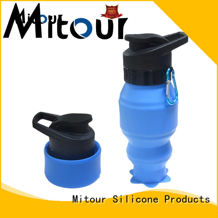 Mitour Silicone Products High-quality eco glass water bottle for children