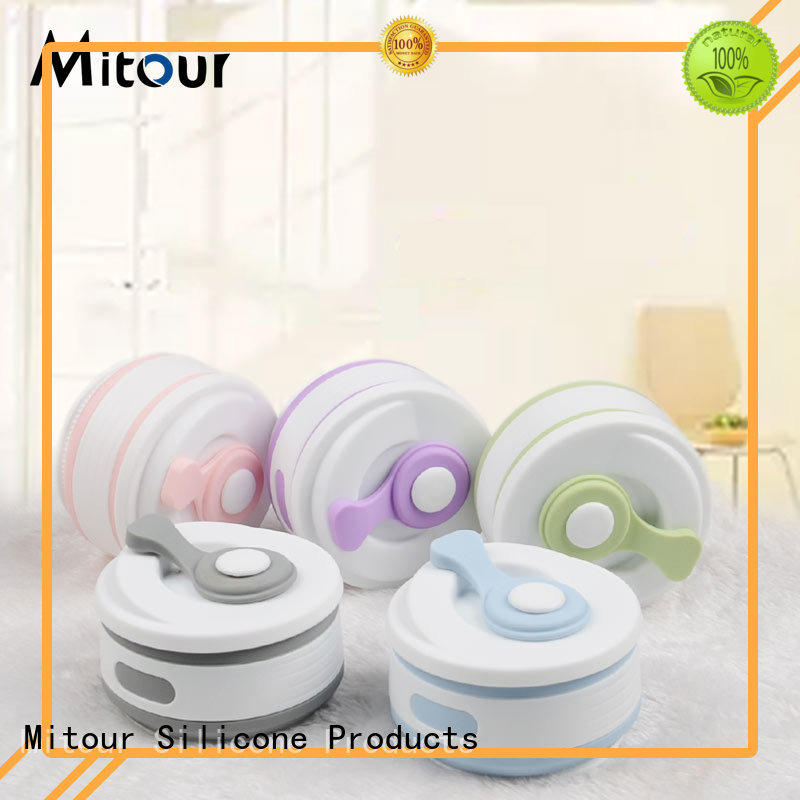 Mitour Silicone Products silicone folding water bottle bulk production for children