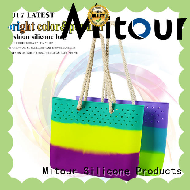 Mitour Silicone Products shoulder silicone travel bag manufacturer for girls