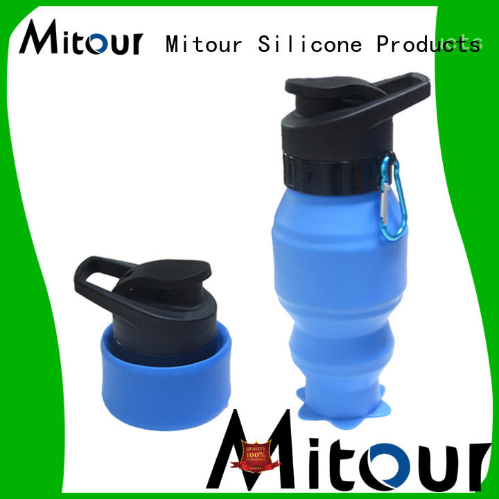 Mitour Silicone Products foldable silicone roll bottle bulk production for water storage