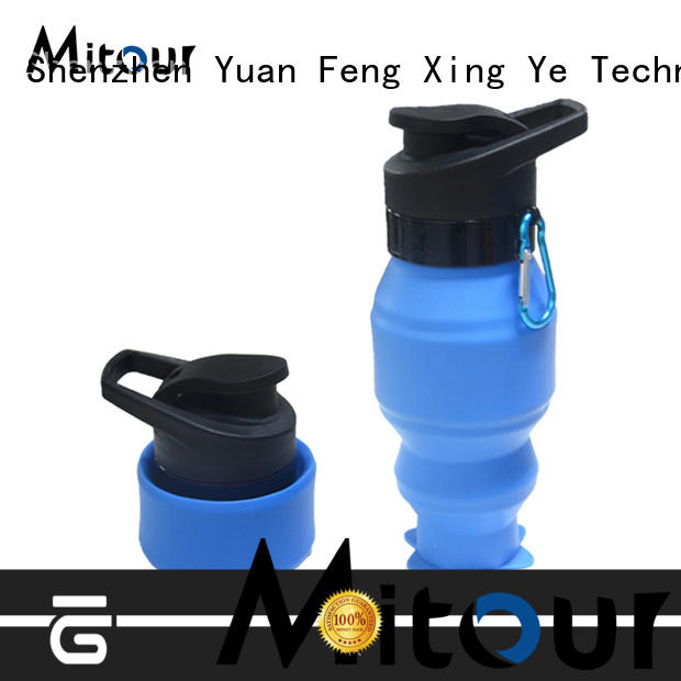 collapsible collapsible silicone water bottle for wholesale for water storage