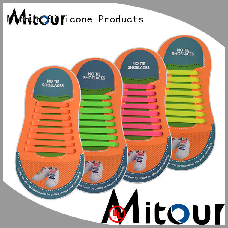 high-quality no tie elastic silicone shoelace for child Mitour Silicone Products