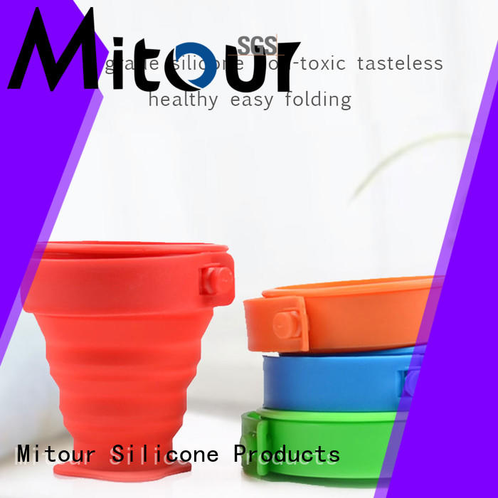 Mitour Silicone Products collapsible silicone sleeve bottle for water storage
