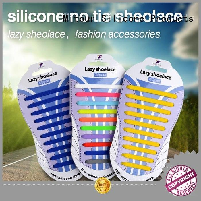 lazy silicone no tie laces silicone for boots Mitour Silicone Products