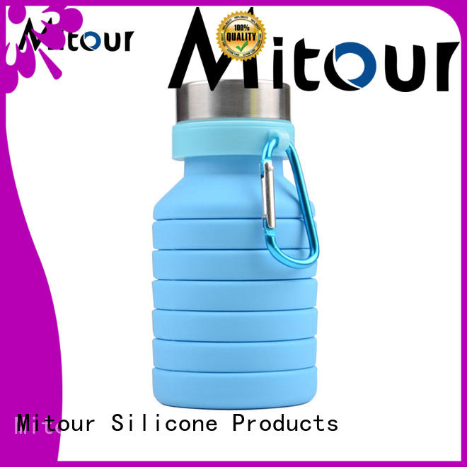 collapsible silicone water bottle silicone supplier for water storage