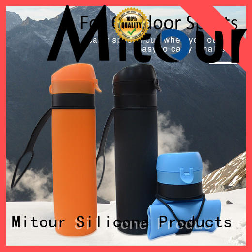 outdoor silicone foldable bottle cup for water storage Mitour Silicone Products