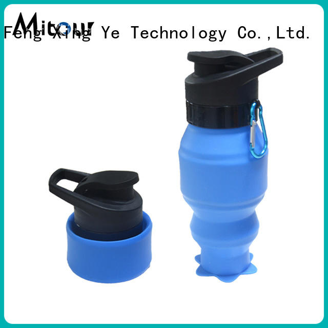 Mitour Silicone Products High-quality pink glass water bottle for water storage