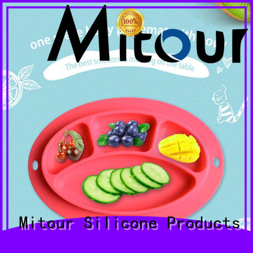 Mitour Silicone Products foldable baby plate silicone placemat for children