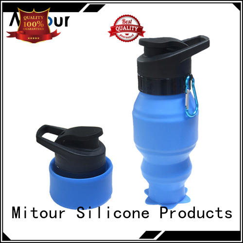 silicone squeeze water bottle sports for children Mitour Silicone Products