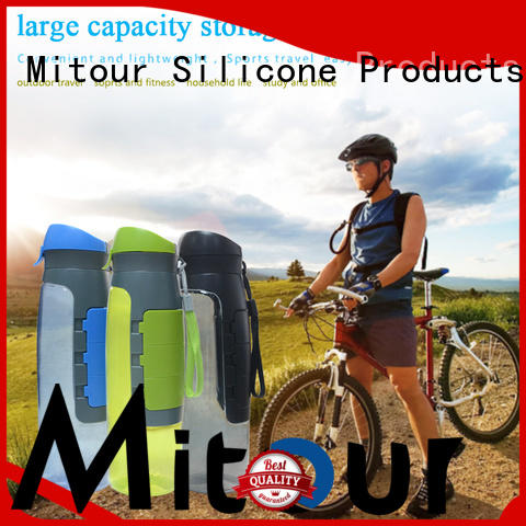 Mitour Silicone Products portable silicone water bottle safety for water storage
