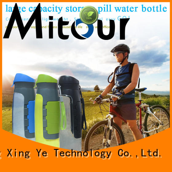 Mitour Silicone Products folding collapsible silicone bottle sports for children