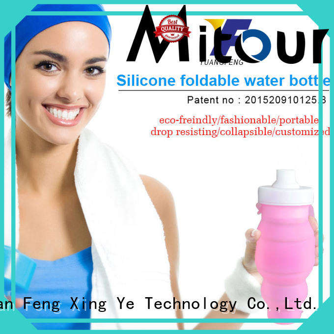 Mitour Silicone Products foldable silicone foldable bottle for children