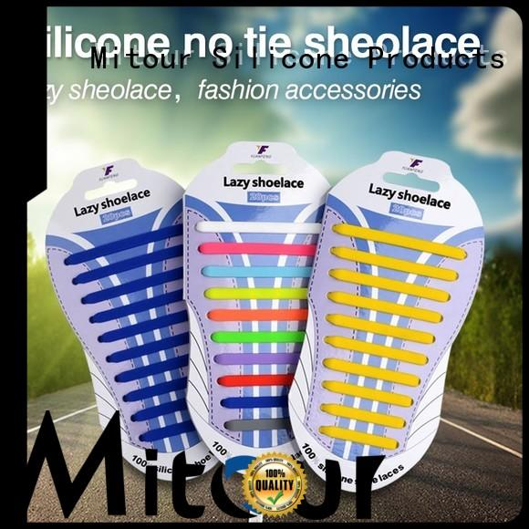 Mitour Silicone Products custom cool shoelaces inquire now for boots