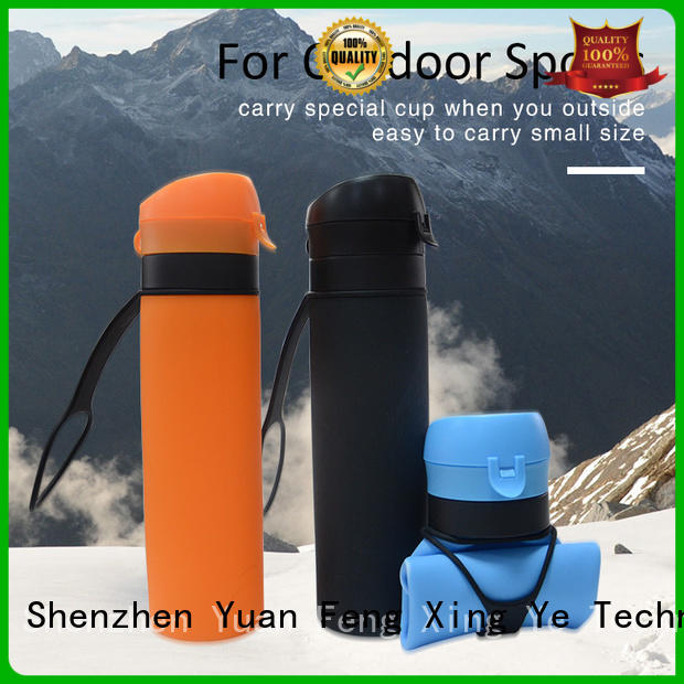 universal silicone water bottle collapsible for wholesale for water storage