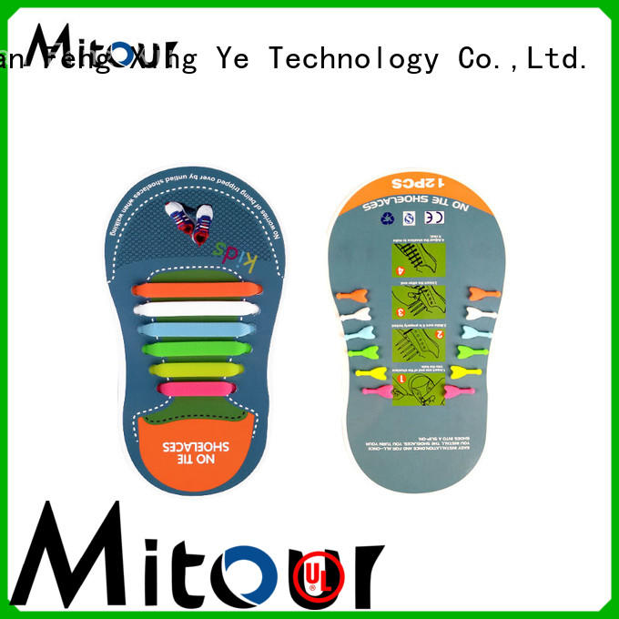 Mitour Silicone Products custom silicone shoelaces free sample for shoes
