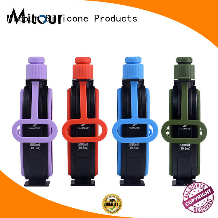 collapsible silicone water bottle for wholesale for water storage Mitour Silicone Products