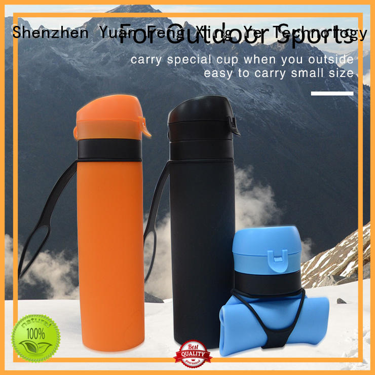 silicone squeeze water bottle outdoor for water storage Mitour Silicone Products