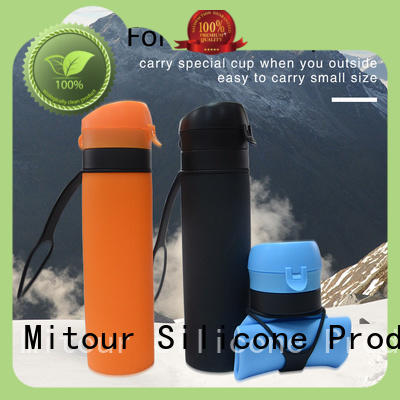 silicone water bottle kids camouflage for water storage Mitour Silicone Products